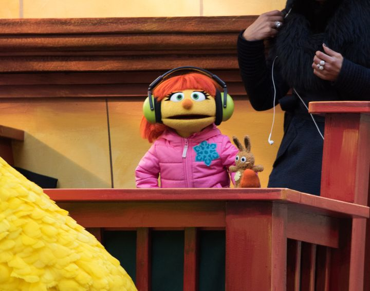 "Julia of ""Sesame Street"" at the 2018 Macy's Thanksgiving Day Parade."