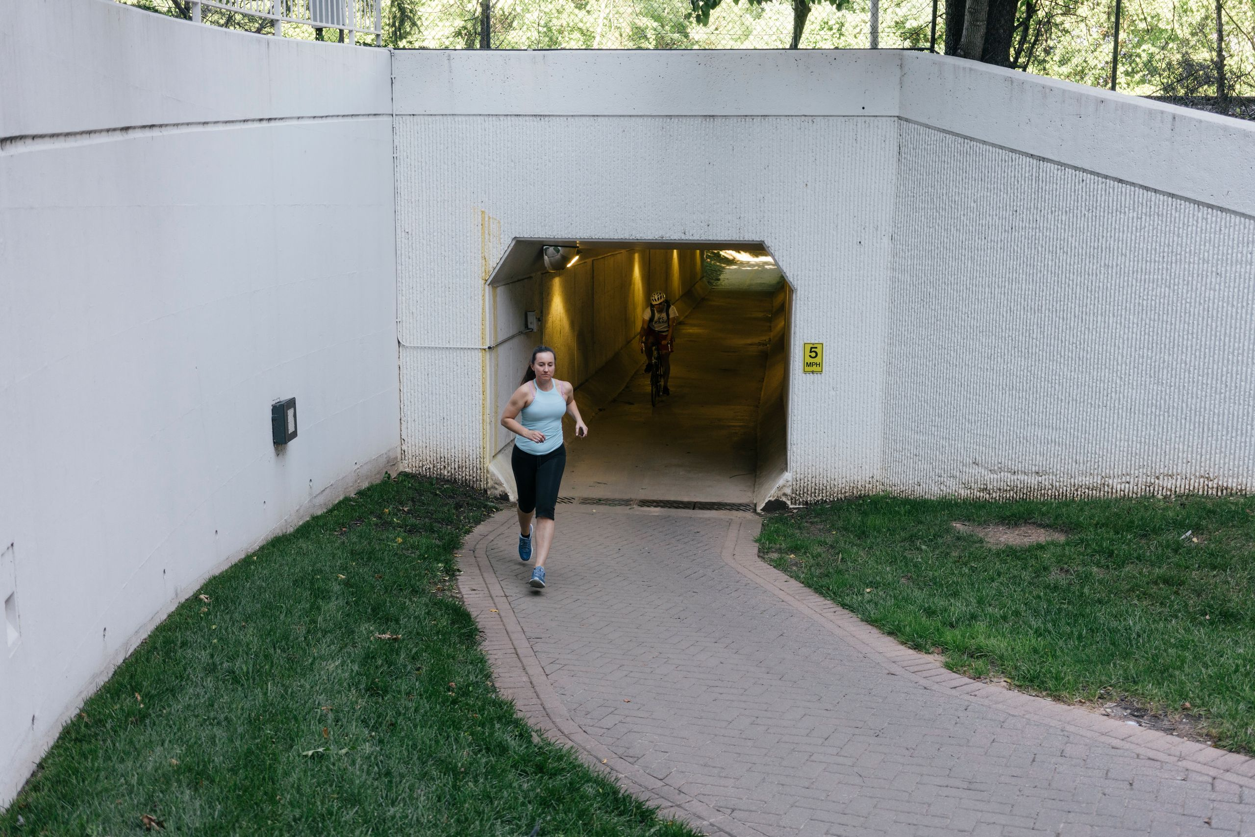 Leah Olszewski, who has been in the military since she was 22, goes for a run in Virginia.