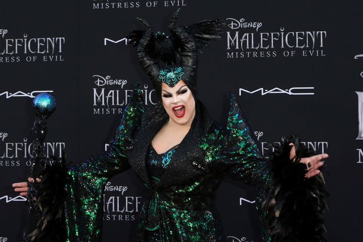"Nina West arrives at the world premiere of ""Maleficent: Mistress of Evil"" Sept. 30."