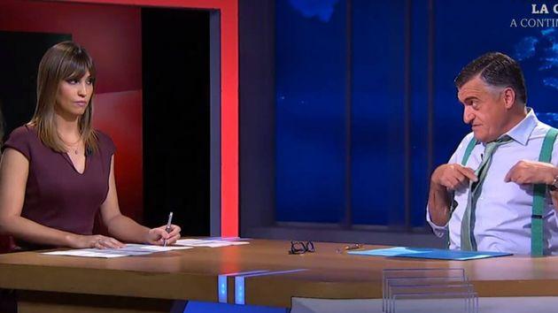 Los presentadores de El Intermedio, Sandra Sabatés y El gran