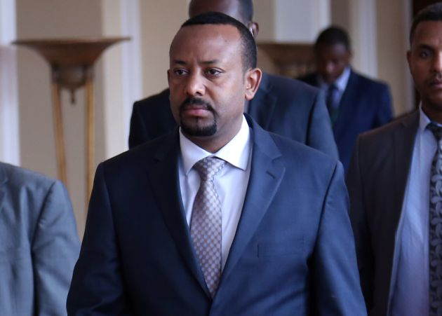 A file photo dated June 21, 2018 shows Ethiopia's Prime Minister Abiy Ahmed arriving to attend the extraordinary...