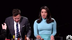 Priyanka Chopra Turns Into Squirming Mess Eating Spicy Wings On 'Tonight
