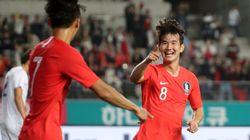 [U-22 평가전] 한국이 우즈베키스탄에 3-1로 역전승을