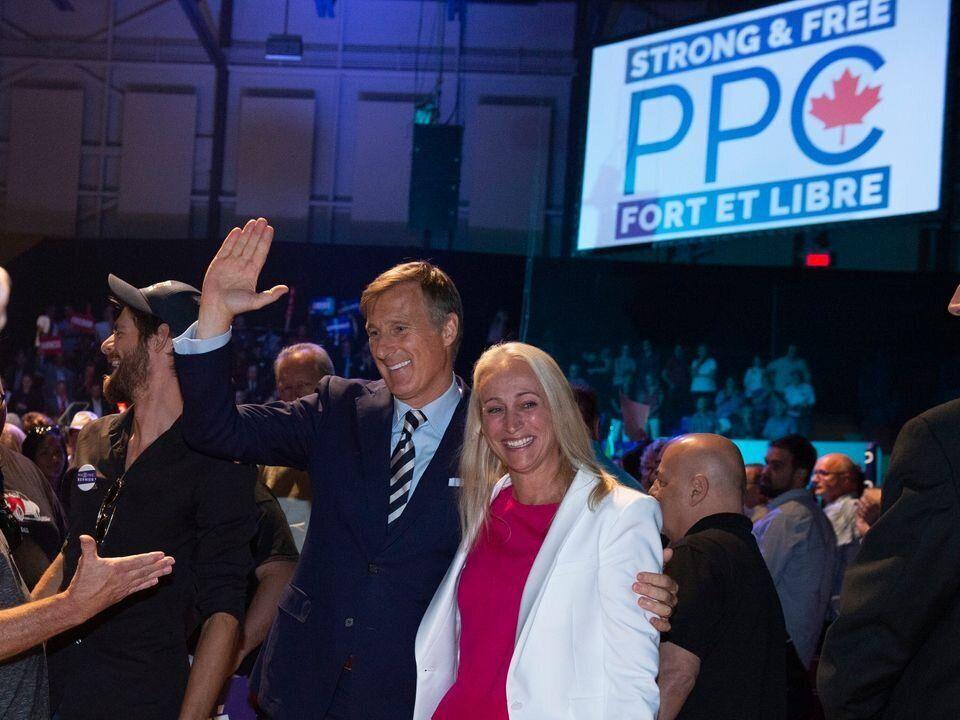 Maxime Bernier et sa femme Catherine Letarte au lancement de la campagne du chef du Parti populaire du...
