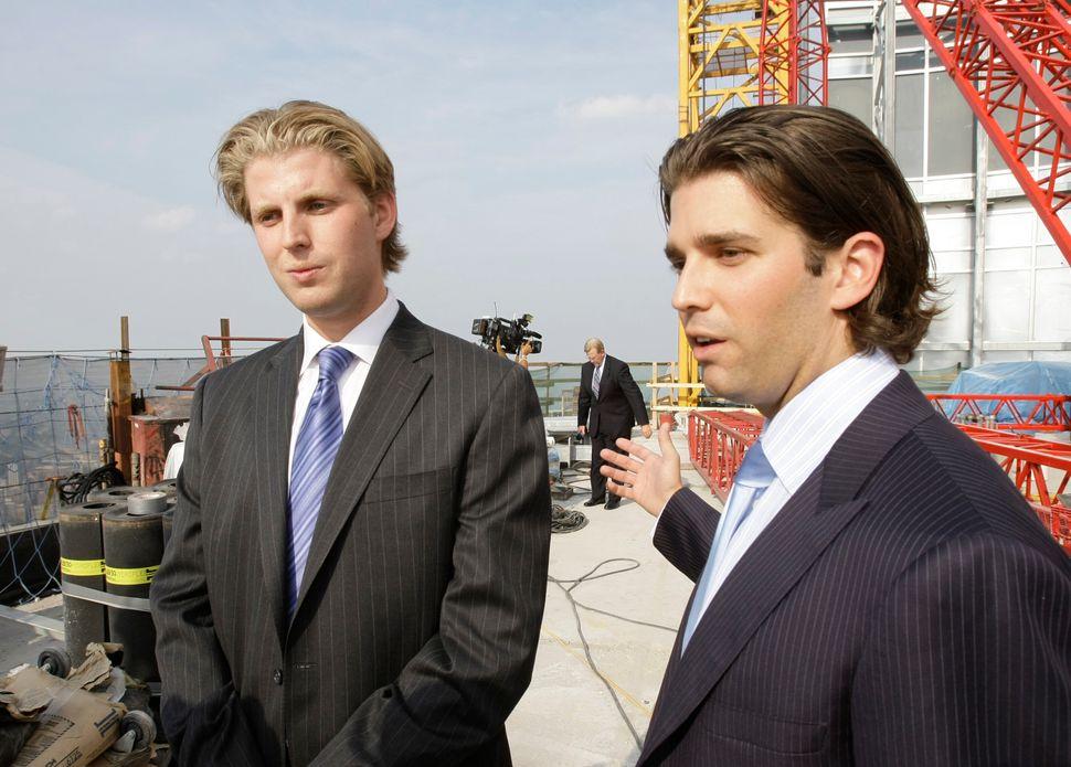 Eric Trump (left) graduated from Georgetown University in 2006. Donald Trump Jr. (right) graduated...