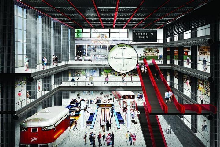 Reacreación del nuevo complejo Madrid FashionDistrict.