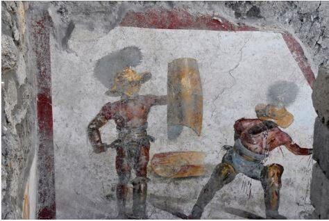 Τοιχογραφία με μονομάχους ανακαλύφθηκε στην
