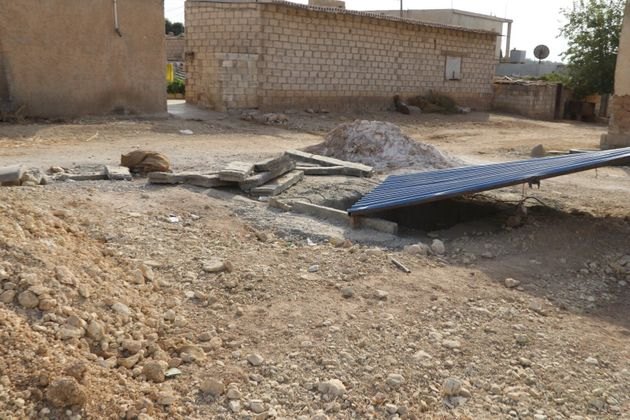 RASULAYN, SYRIA - OCTOBER 11: PKK/YPG's tunnels and positions are seen following they were found by Syrian...