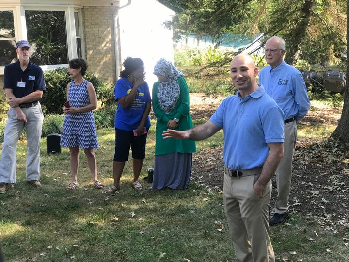 Steve Descano campaigns in Fairfax County.