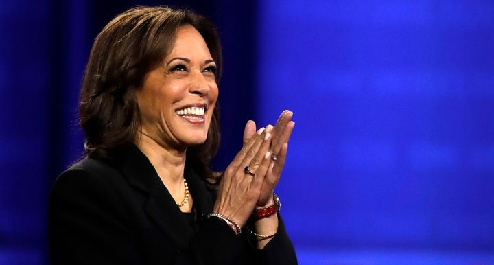 Sen. Kamala Harris (D-Calif.) at the Power of Our Pride Town Hall on Thursday in Los Angeles.