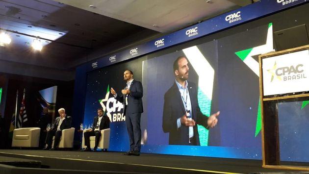 Eduardo Bolsonaro fala no CPAC Brasil em São