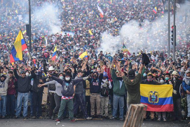Protestas en Quito,