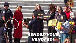 Jane Fonda menottée au Capitole pendant une manifestation pour le