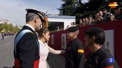 El gesto de la reina Letizia que ha emocionado al paracaidista accidentado en el desfile de la