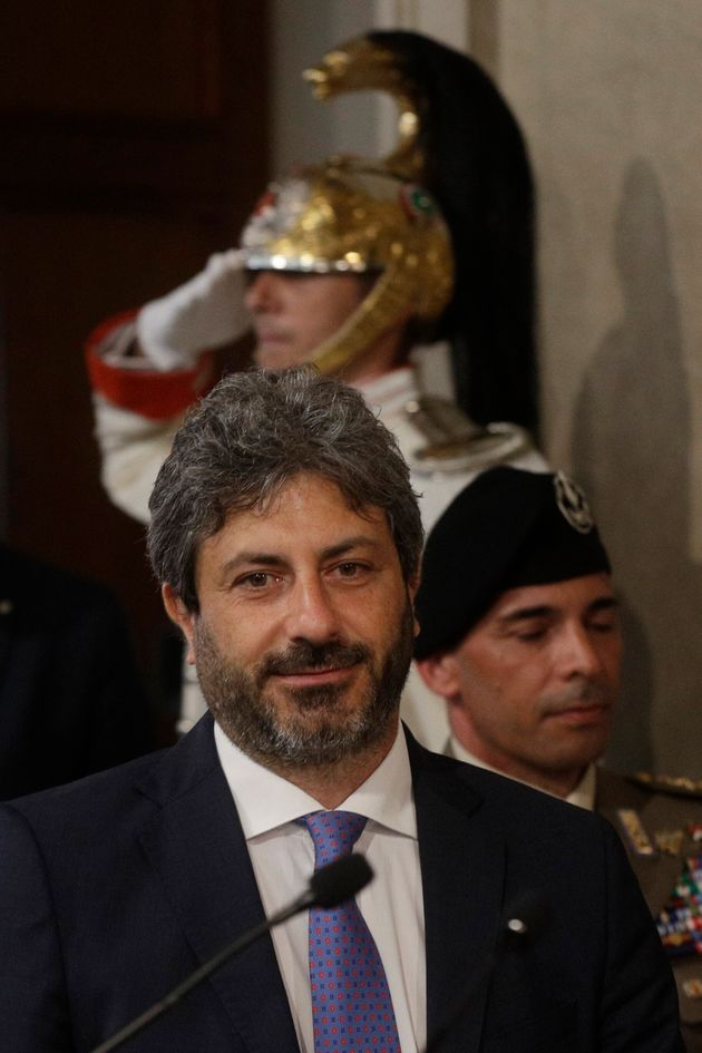 Lower Chamber President Roberto Fico leaves after meeting with Italian President Sergio Mattarella at...