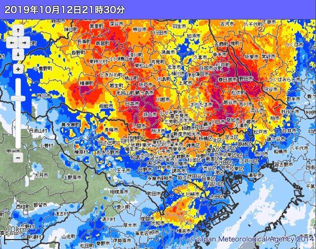 【台風19号】東京都豊島区や練馬区など4区で大雨特別警報。23区では初めて