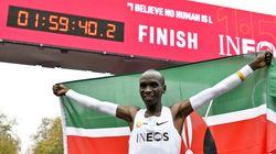 Pour la première fois, un athlète court un marathon en moins de 2
