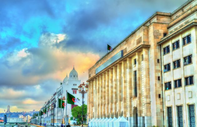 National Assembly of Algeria in Algiers, the capital of Algeria. North