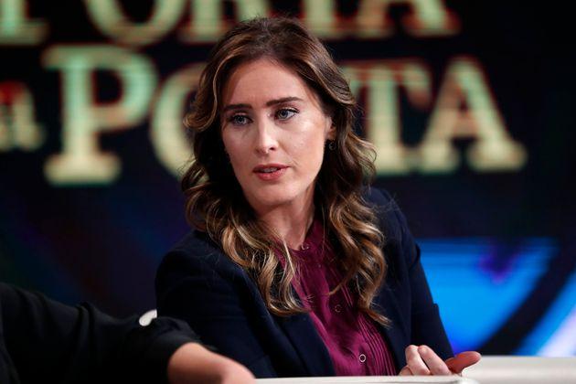 Italian politician Maria Elena Boschi guests at the TV show Porta a Porta. Rome (Italy), April 3rd, 2019...