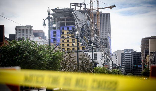 Le Hard Rock Hotel en construction dans le cœur de La Nouvelle-Orléans s'est partiellement...