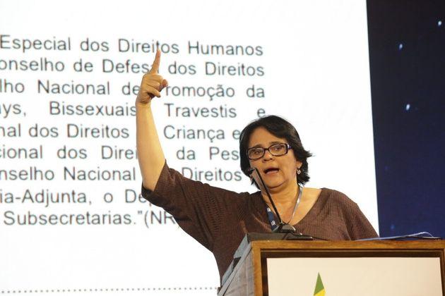 Ministra da Mulher, da Família e dos Direitos Humanos, Damares Alves, discursa no CPAC