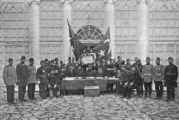 Declaration of the Young Turk Revolution by the leaders of the Ottoman millets in