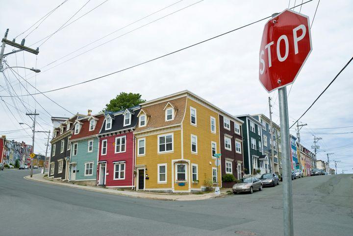 Colourful Row Houses of St. John's Newfoundland