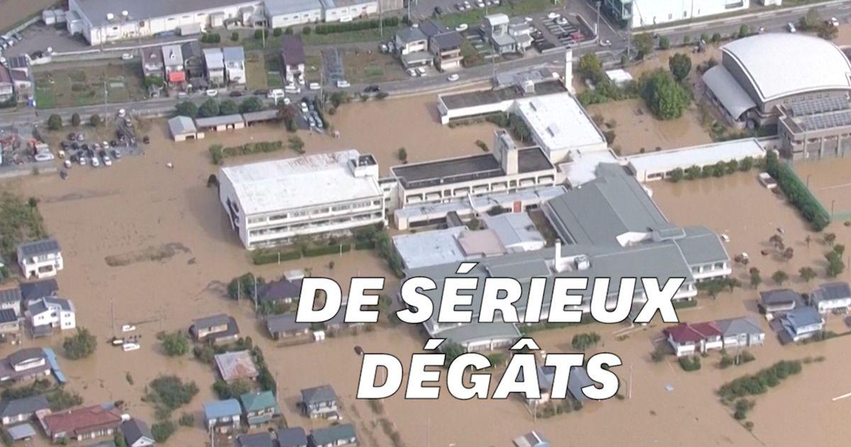 Les images aériennes du typhon Hagibis qui a touché le Japon
