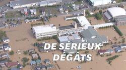 Les images aériennes du typhon Hagibis qui a touché le