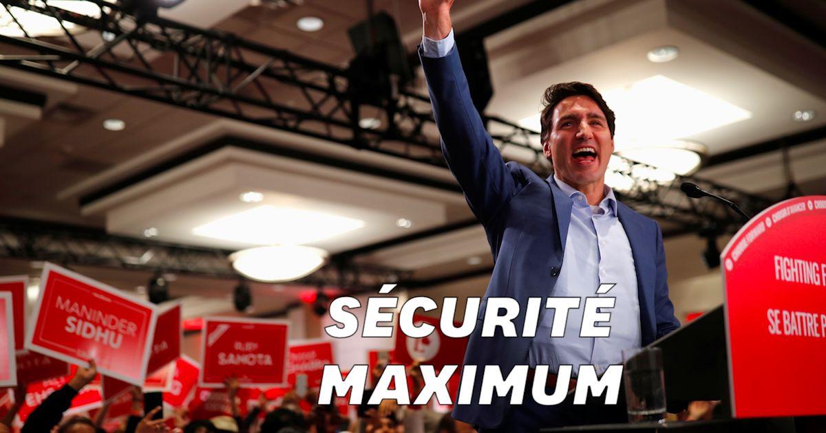 Pourquoi Trudeau portait un gilet pare-balles à son dernier meeting