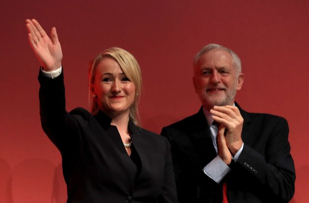Shadow business secretary Rebecca Long-Bailey with Labour leader Jeremy