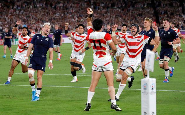 En battant l'Ecosse ce dimanche, le Japon s'est qualifié pour les quarts de finale de la Coupe...