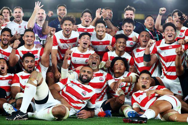 ラグビー日本代表、史上初の決勝トーナメント進出 スコットランドに見事な粘り勝ち【ラグビーワールドカップ】