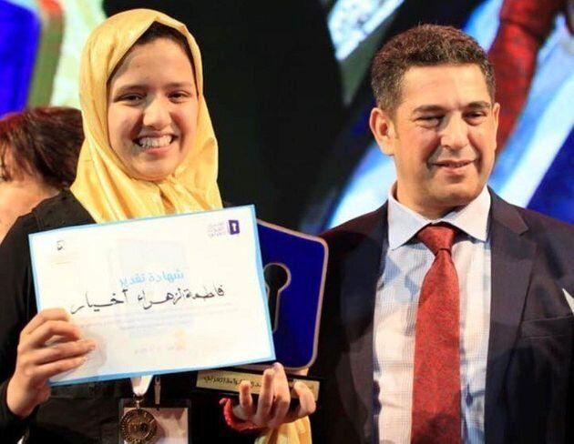 Fatima-Zahra Akhiar et le ministre de l'Education, Saaïd