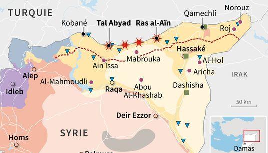 Cette carte résume les enjeux de l'offensive turque contre les Kurdes en