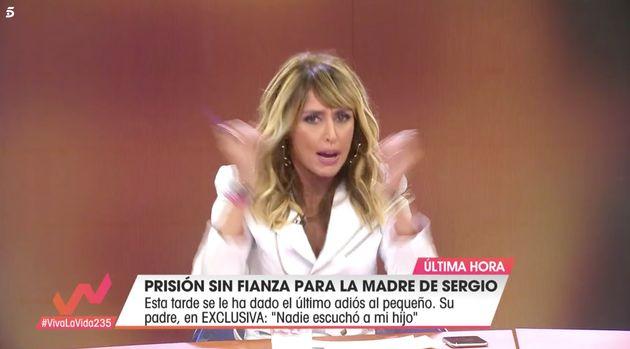 Emma García, enfadada tras el comentario de una colaboradora sobre la violencia de