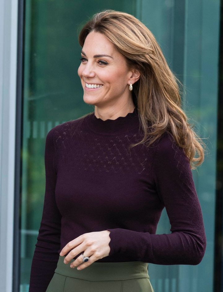 Kate Middleton visits The Angela Marmont Centre for UK Biodiversity at The Natural History Museum in London, Oct. 9, 2019.