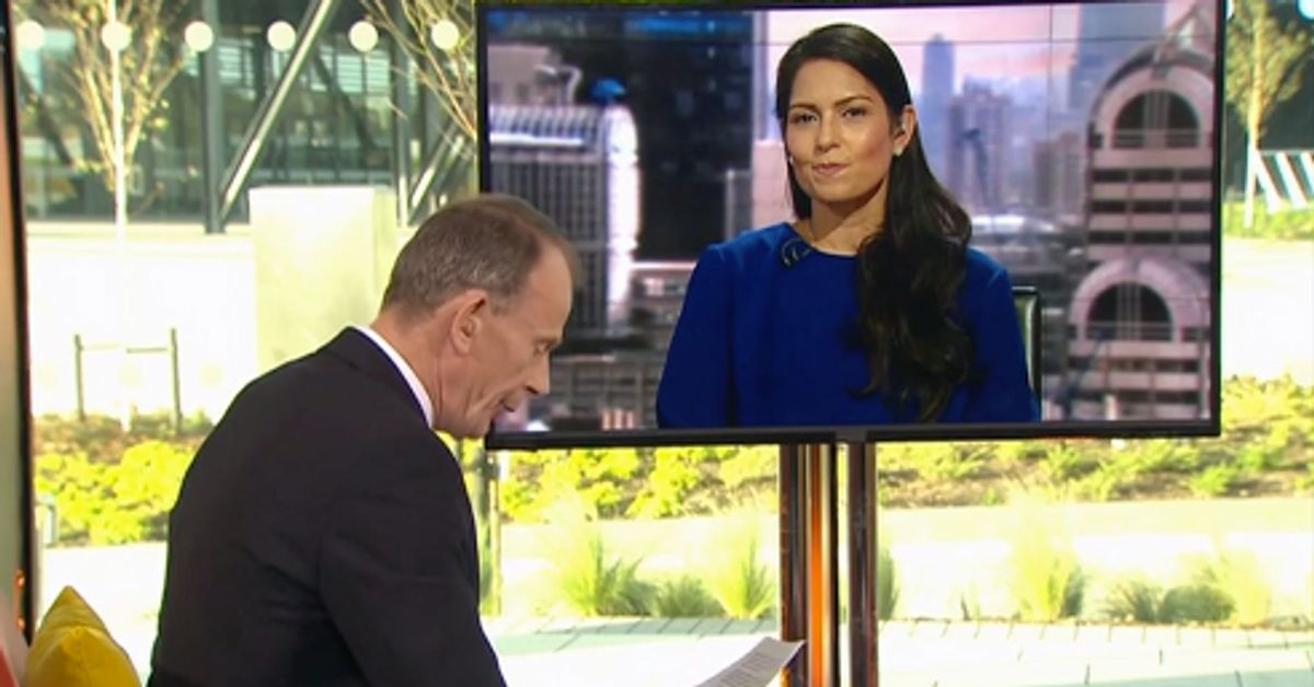 Andrew Marr Accuses Priti Patel Of 'Laughing' When Questioned About Brexit Fears