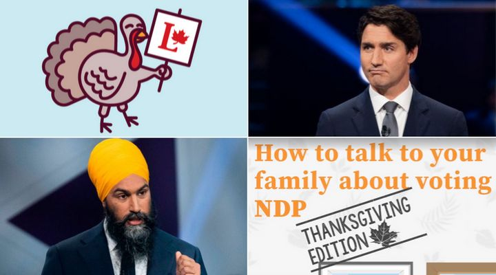 The Liberals and the NDP would like to help you out with your Thanksgiving dinner election conversations.