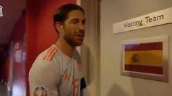 Bromas en Twitter con lo que hizo Ramos al entrar al vestuario: ojo a su
