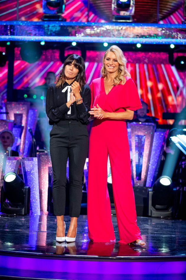 Tess with Strictly Come Dancing co-host Claudia Winkleman