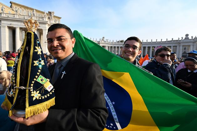 Peregrinos brasileiros marcaram presença na