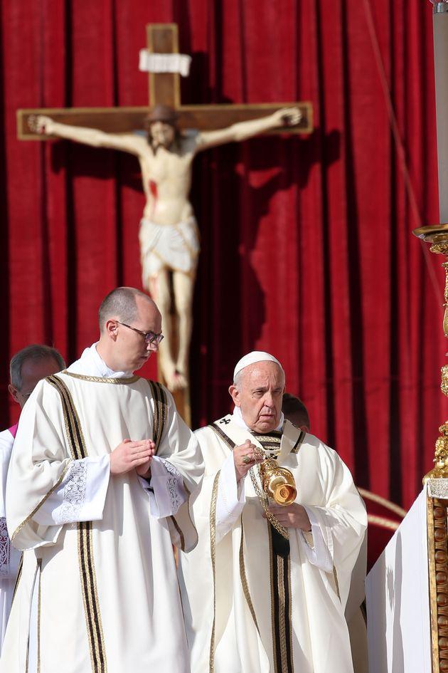 Papa Francisco na canonização dos
