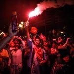 Les partisans de Kais Saied fêtent la victoire annoncée de leur candidat (PHOTOS,