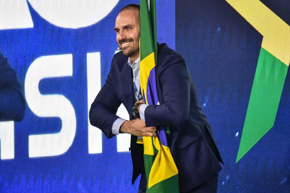 Eduardo Bolsonaro foi o astro da Conferência de Ação Política Conservadora,...