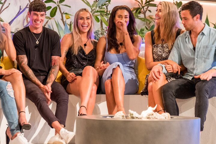 Love Island Australia's Cassie Lansdell and Phoebe Thompson coupled up on the show on Monday night.