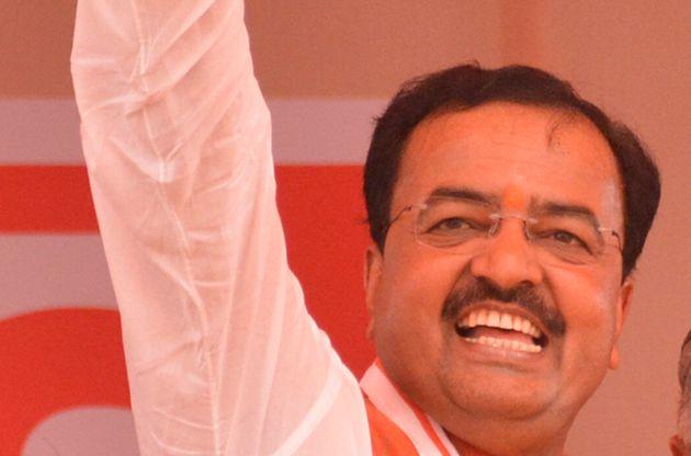 GHAZIABAD, INDIA - APRIL 5: Uttar Pradesh Deputy Chief Minister Keshav Prasad Maurya along with Union...