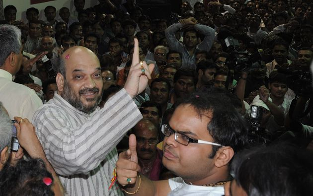 File image of Amit Shah (left) and his son Jay