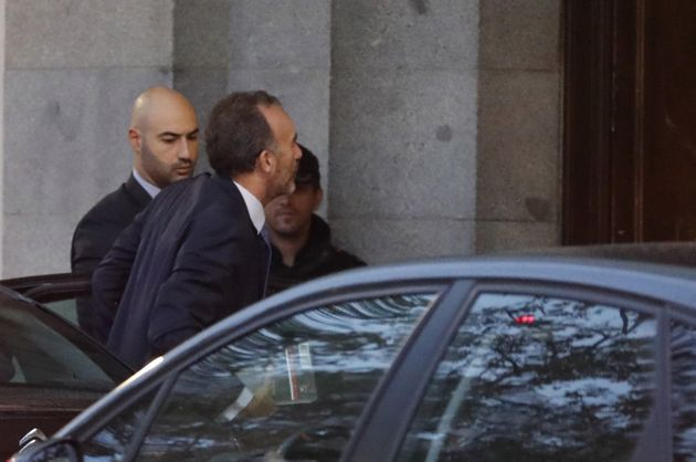 El magistrado Manuel Marchena, a su llegada este lunes al Tribunal
