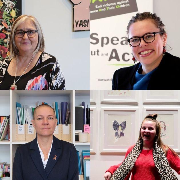 호주에서 만난 섀넌 라이트(YWCA), 카라 글리슨(Our Watch), 오로라 맷챗(YWCA 청년 여성 자문 멤버), 무 바울취(DVNSW) [왼쪽부터